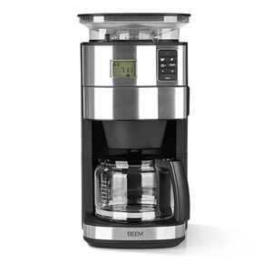 Beem Fresh Aroma Perfect II Filterkaffeemaschine mit Mahlwerk Glas Basic Selection 1000W schwarz