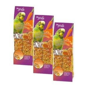 JR Farm BIRDY's Wellensittich Sparpaket 3x2Stück Honig-Austernschale-Karotte
