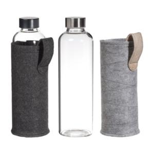 HOME CREATION     Glastrinkflasche mit Filzhülle