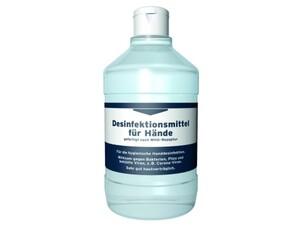 Handdesinfektionsmittel nach WHO Rezeptur ,  500 ml
