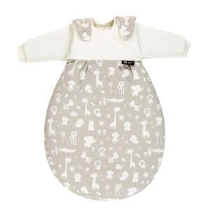 Alvi Babyschlafsackset , 42380-911-8Xxl , Weiß, Taupe , Textil , Tier , Jersey,Jersey , 004507007802