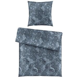 Ambiente Bettwäsche satin blau 155/220 cm , Paris , Textil , Paisley , 155x220 cm , Satin , 004378010405