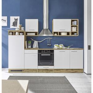 Carryhome Küchenleerblock , Madeira , Weiß, Eichefarben , 1 Schubladen , 280 cm , Nachbildung , 001279000501