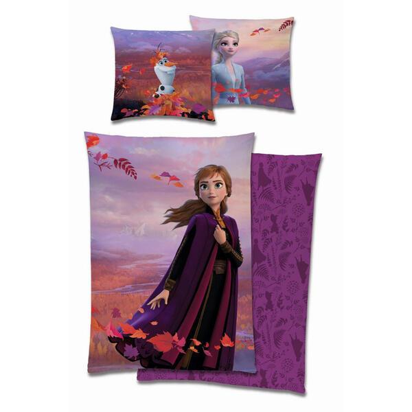 XXXLutz Kinderbettwäsche renforcé lila 135/200 cm , Frozen 'anna' _ Textil , 135x200 cm , Renforcé , 006231008201