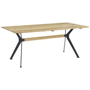 Carryhome Esstisch wildeiche massiv rechteckig eichefarben , Köln , Holz , 90x75x160 cm , geölt,Echtholz , 002748010101