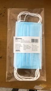 Gebol Mund-Nasenmaske Mundschutz blau ,  5 Stück, Hygienemaske