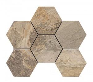 KNG Feinsteinzeugmosaik STONE ART 26,1 x 20,0 cm, Abr. 4, R10/B, sand beige Sechseck