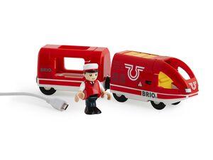 BRIO 33746 »Roter Akku-Reisezug«, 3-teilig, mit USB-Miniladekabel, ab 3 Jahren