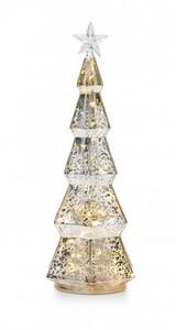 "Markslöjd STRIX Tischdekoration Baum ""transparent, LED, H 29,5 cm x T 11,5 cm x B 11,5 cm"""
