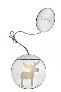 "Krinner Lumix LED Deko Light ""Elch, LED, Ø 10 cm"""