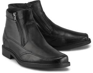 Drievholt, Leder-Stiefelette in schwarz, Boots für Herren