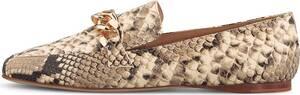 FABIO RUSCONI, Spangen-Loafer in python, Slipper für Damen