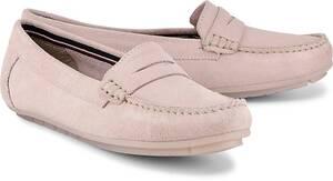 Drievholt, Velours-Mokassin in rosa, Slipper für Damen