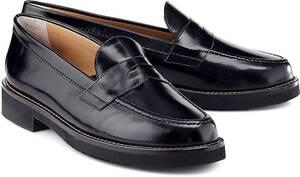 Truman's, Penny-Loafer in schwarz, Slipper für Damen
