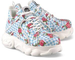 Buffalo, Plateau-Sneaker Corin in hellblau, Schnürschuhe für Damen