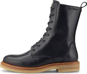 Marc O'Polo, Schnür-Boots Lace Up Mid in schwarz, Stiefeletten für Damen