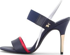 Tommy Hilfiger, Sling-Sandalette Feminine Elastic in dunkelblau, Sandalen für Damen