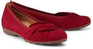 Gabor, Komfort-Ballerina in rot, Ballerinas für Damen