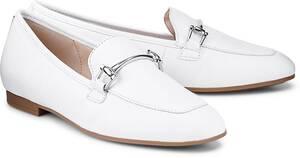 Gabor, Spangen-Loafer in weiß, Slipper für Damen