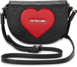 Love Moschino, Umhängetasche Heart Embroidery in schwarz, Schultertaschen für Damen