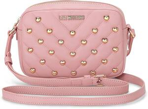 Love Moschino, Umhängetasche Love And Studs in rosa, Umhängetaschen für Damen
