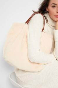 Shopper Tasche mit Fell