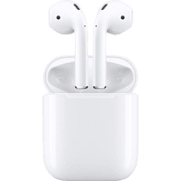 APPLE AirPods mit Ladecase (2. Generation), In-ear True-Wireless-Kopfhörer Bluetooth Weiß