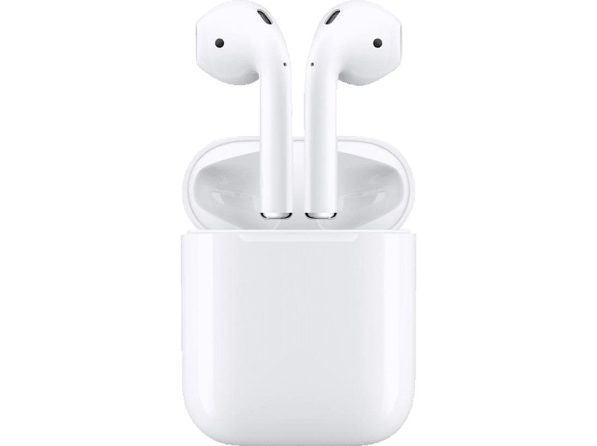 Bild 2 von APPLE AirPods mit Ladecase (2. Generation), In-ear True-Wireless-Kopfhörer Bluetooth Weiß