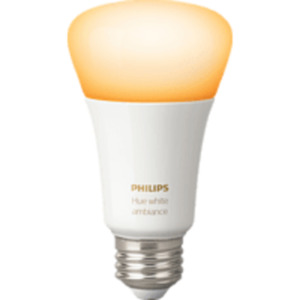 PHILIPS Hue White Amb. E27 Einzelpack Bluetooth LED Lampe, Weiß