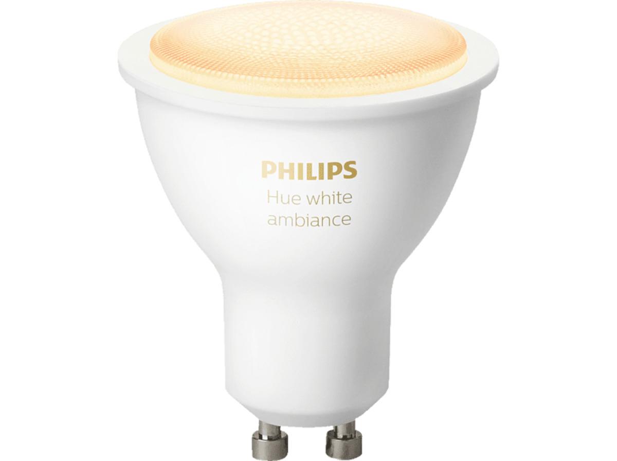 Bild 2 von PHILIPS HueWhite Amb. GU10 Bluetooth LED Lampe, Weiß