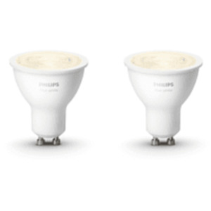 PHILIPS Hue White GU10 Doppelpack Bluetooth LED Lampen, Weiß