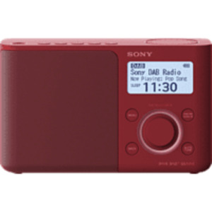 SONY XDR-S61D DAB+ Radio in Rot