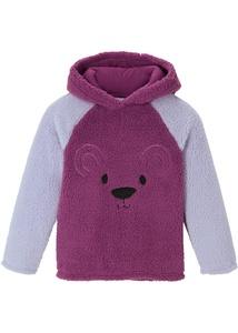 Mädchen Teddy-Fleeceshirt mit Kapuze