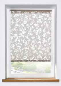 Ausbrenner Sichtschutzrollo mit Blumen