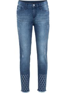Skinny-Jeans mit Steinchen-Applikation