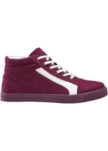 High top Sneaker mit farblich abgesetztem Streifen
