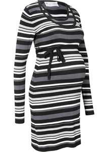 Umstandskleid/Stillkleid in Strick mit Bindeband