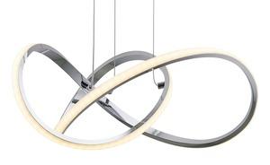 LED-Pendelleuchte, Chrom, geschwungen