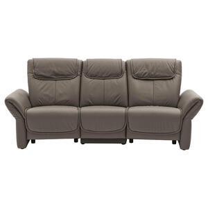 Musterring Heimkino-sofa echtleder grau , MR 380 , Leder , 3-Sitzer , 240x105x106 cm , pigmentiert , erweiterbar, Typenauswahl, Fußauswahl, Lederauswahl, Stoffauswahl, planbar, Relaxfunktion, Armtei