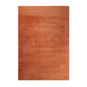 Esprit Webteppich 70/140 cm orange , Loft Esp-4223 , Textil , Uni , 70x140 cm , für Fußbodenheizung geeignet, in verschiedenen Größen erhältlich, für Hausstauballergiker geeignet, pflegeleicht,