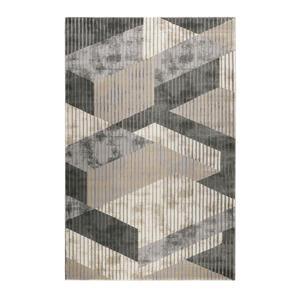 Esprit Webteppich 80/150 cm grau, sandfarben, beige , Tamo , Textil , Graphik , 80x150 cm , für Fußbodenheizung geeignet, in verschiedenen Größen erhältlich, für Hausstauballergiker geeignet ,