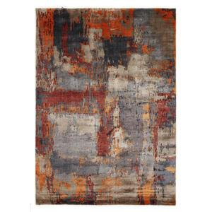 Musterring Orientteppich 170/240 cm grau, orange, beige , Angeles Palung , Textil , 170x240 cm , in verschiedenen Größen erhältlich , 005893000467