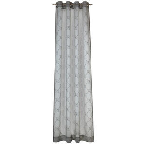 Joop! ÖSENSCHAL transparent 140/250 cm , J-Airy , Grau, Hellgrau , Textil , Uni , 140x250 cm , 003021009301