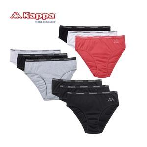Damen-Slips 95% Baumwolle / 5% Elasthan, Größe: M - XL, 3er-Pack, je