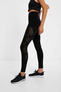 Ausgestanzte Leggings Slim Fit