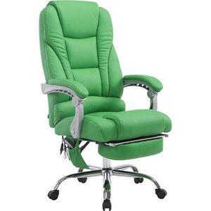 CLP Chefsessel Pacific Kunstleder mit Massagefunktion l Höhenverstellbarer Bürostuhl mit ausziehbarer Fußablage l Max. belastbar bis 150 kg... grün