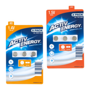 ACTIV ENERGY     Knopfzellen-Batterien