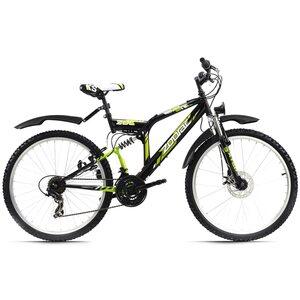 KS Cycling Mountainbike Fully ATB 21 Gänge Zodiac 26 Zoll für Herren, Größe: 48, Schwarz