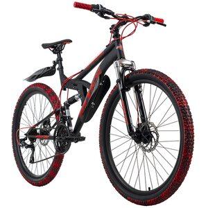 KS Cycling Mountainbike Fully 26 Zoll Bliss Pro für Herren, Größe: 46, Schwarz