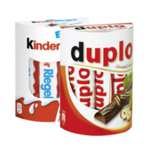 Duplo, Kinder Riegel, Schoko-Bons oder Hanuta Minis